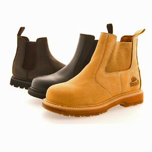 Mens Groundwork Safety Work Leather