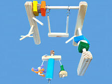 WOOD CAGE TOP PLAY GYM SET-WITH SWING,TOYS,& LITTLE GUY