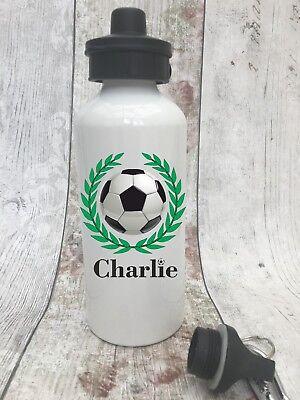 Personalised Football verres fille garçon école bouteille d/'eau PE Training sport