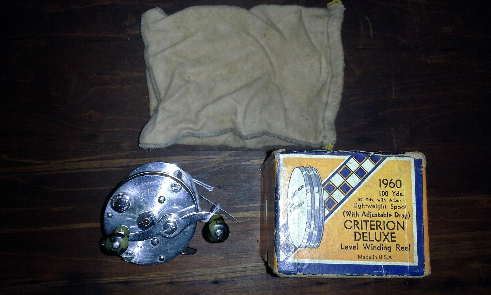 Vintage 1960 Shakespear Criterion  Model GE Fishing Reel Unused w Orig. Box