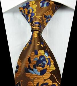 New Classic Patterns Black Gold JACQUARD WOVEN 100/% Silk Men/'s Tie Necktie