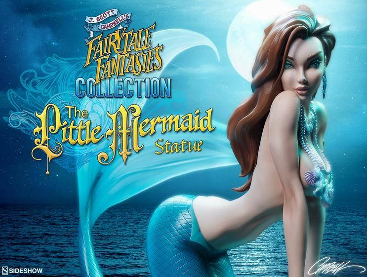 Sideshow 2005042 Little Mermaid viola Edition Statue Soldier Gifts Toys Beauty