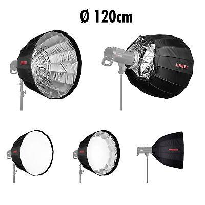 Profi Jinbei Deep Umbrella Softbox 120 Cm Fotostudio Bowens Foto Studio Schirm