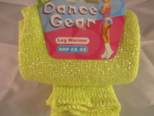 Brand New with Tags Knitted Glitter Womens Ladies Dance Gear Neon Leg Warmers