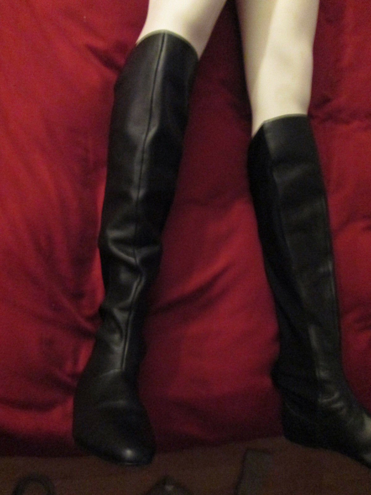 Steven madden tall  leather fabric  boots 7