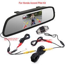 "Honda Accord Civic Odyssey Car Rear View Mirror 4.3"" Monitor + IR Reverse Camera"