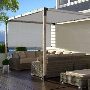 LightGray 8ft 9ft Outdoor Pergola Cover with Sun Shades ... on Canvas Sun Shade Pergola id=78011