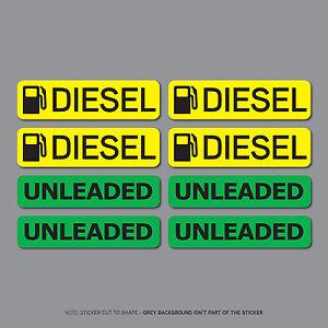 SKU2559-8-x-Diesel-amp-Unleaded-Fuel-Reminder-Stickers-Car-Truck-Bus-Van