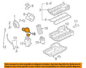 vw volkswagen oem 05 14 jetta engine parts oil cooler gasket set rh ebay com VR6 Engine Diagram VW 2.0 Engine Diagram