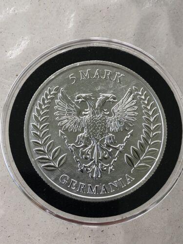 2019 GERMANIA 5 MARK 1 OZ .9999 SILVER First in Series 25,000 mintage in Capsule