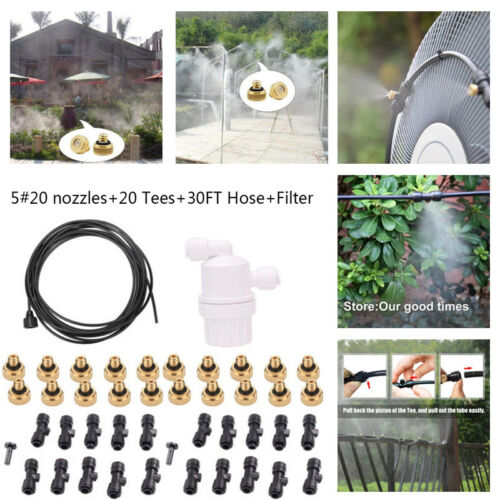 0.6cm Slip-Lock Mikro Tropfen Bewässerung kit Satz Durchfluss System Pflanze