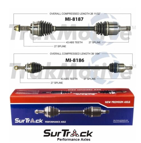 For Mitsubishi Eclipse Galant FWD 2.4L Pair of Front CV Axle Shafts SurTrack Set