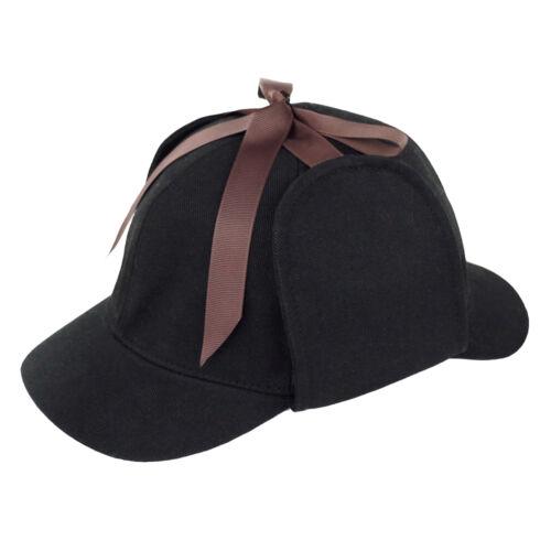 Country Wool Tweed Deerstalker Hat Sherlock Holmes Hunting Cap with Ear Flaps