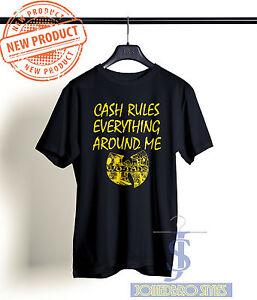 66639896ba4 WU TANG CLAN CASH RULES EVERYTHING AROUND ME T SHIRT CREAM BLACK TEE ...