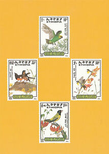 Ethiopia-1989-Birds-set-Maximum-card