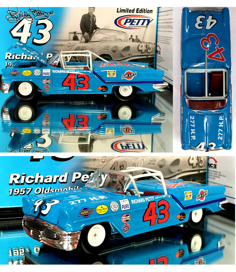 RICHARD PETTY 1957 OLDSMOBILE CONgreenIBLE 1 24 SCALE RC2 NASCAR DIECAST