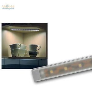 led alu unterbauleuchte 15 smd leds kaltwei k che lichtleiste k chenleuchte 12v ebay. Black Bedroom Furniture Sets. Home Design Ideas