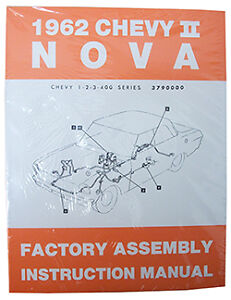 image is loading 1962-chevy-nova-chevy-ii-factory-assembly-manual-