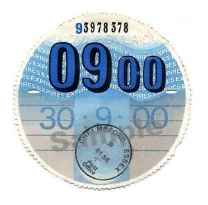 2000-TAX-DISC-PERSONALISED-Classic-car-Vauxhall-MGB-Ford-Austin-Triumph