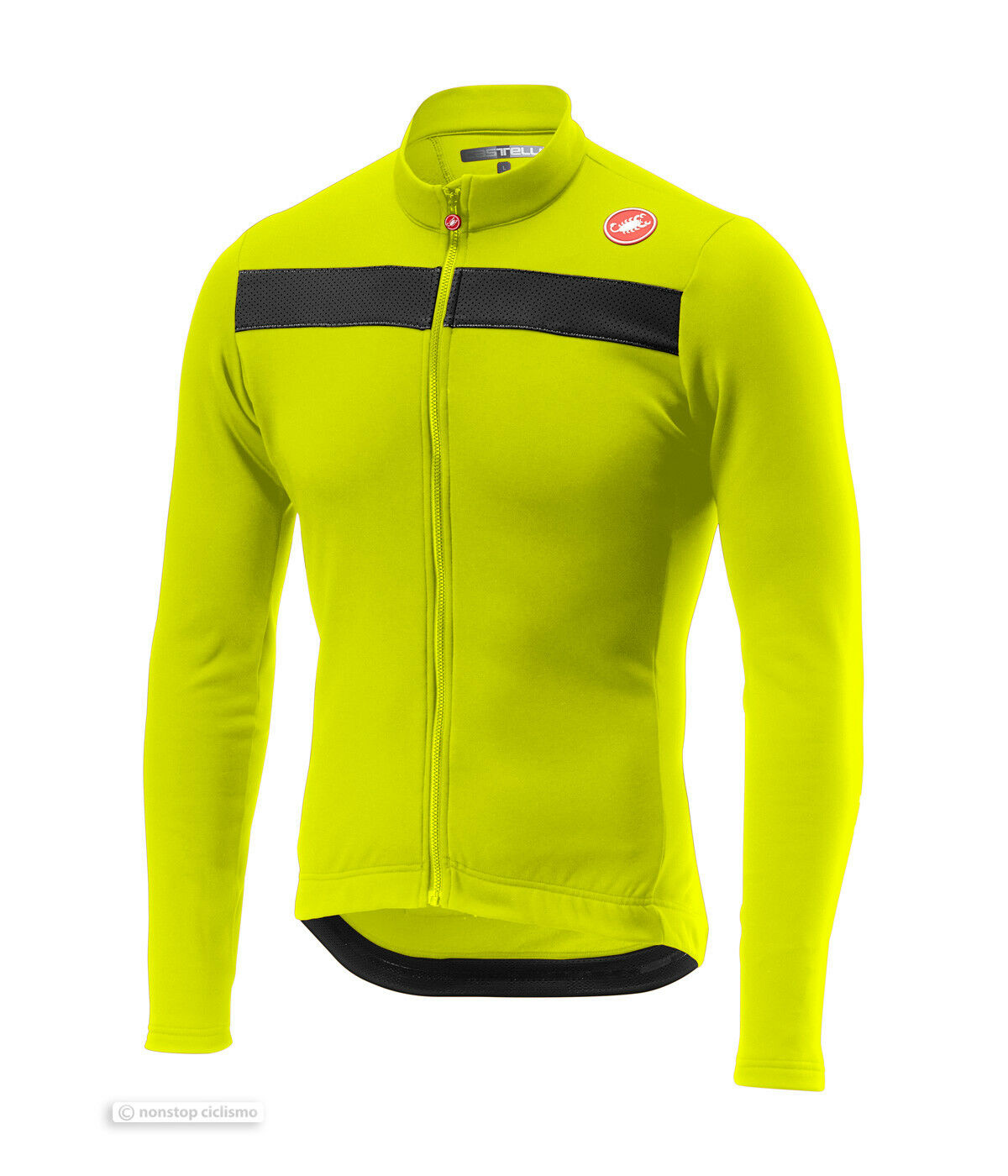 Nuevo Ciclismo Castelli puro 3 Manga Larga Jersey  Amarillo Fluo