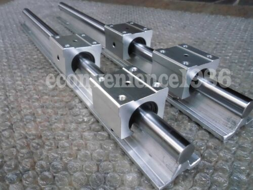 2x SBR20--L675 mm SUPPORTED LINEAR RAIL SHAFT ROD WITH 4 PCS 20 MM SBR20UU