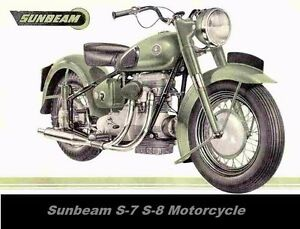 Sunbeam S7 S8 Motorcycle Parts Manual With Spares List Diagrams