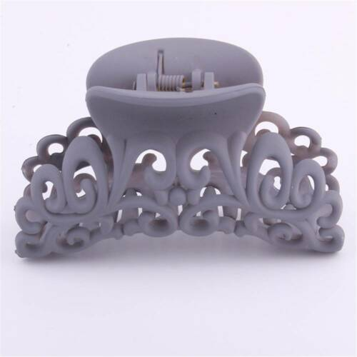 Plastic Hairdress Scrub Hair Claw Clips Hollow Out Carving Crab Hairpin Colorful