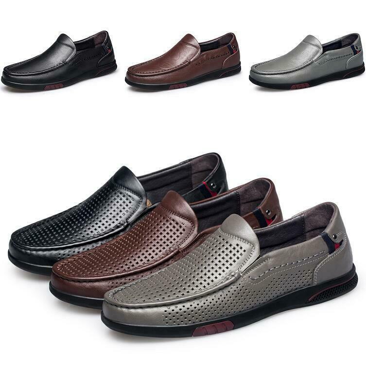 Vogue Mens Ultra-light Slip on Round Toe Non-slip Flats Breathable shoes Casual