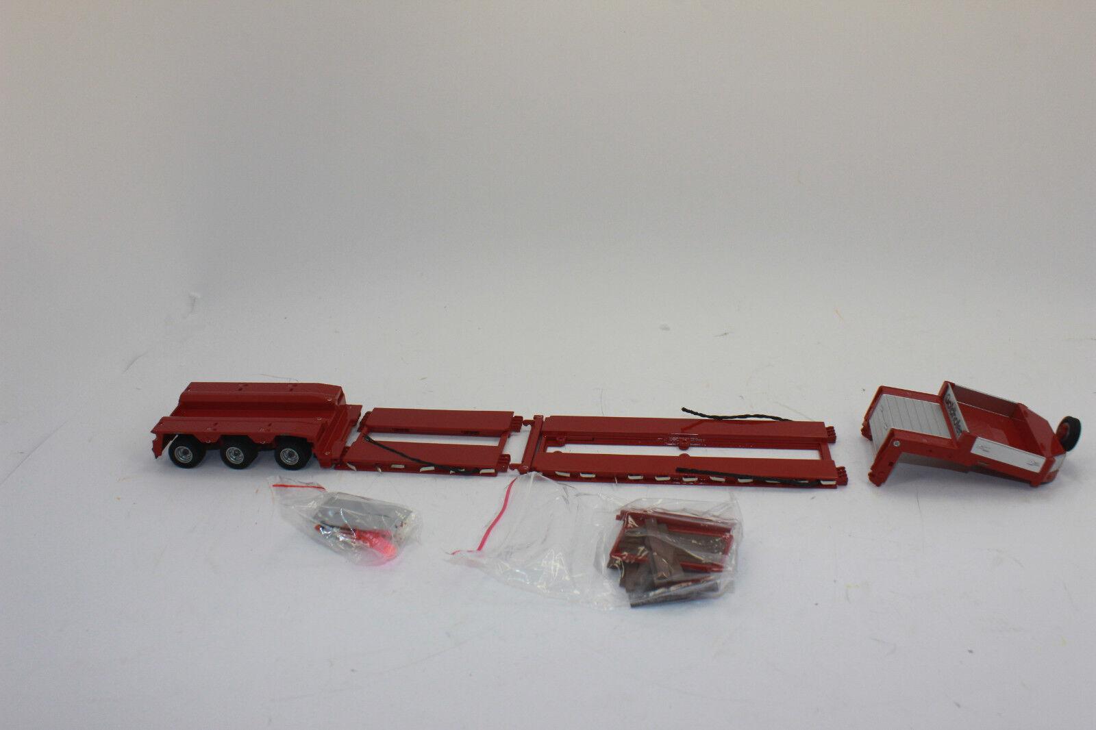 TEKNO 58706 goldhofer semirremolque Cama Ajustable red 1 50 NUEVO EN emb.orig.
