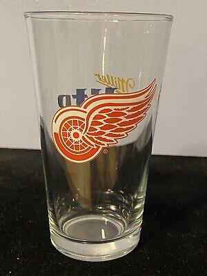 Vintage Nhl Detroit Red Wings Miller Lite Beer 16 Oz Pint Glass Ebay