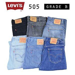 Vintage-Levis-505-Jeans-Denim-Grado-B-W28-W30-W32-W34-W36-W38-505s-Levi