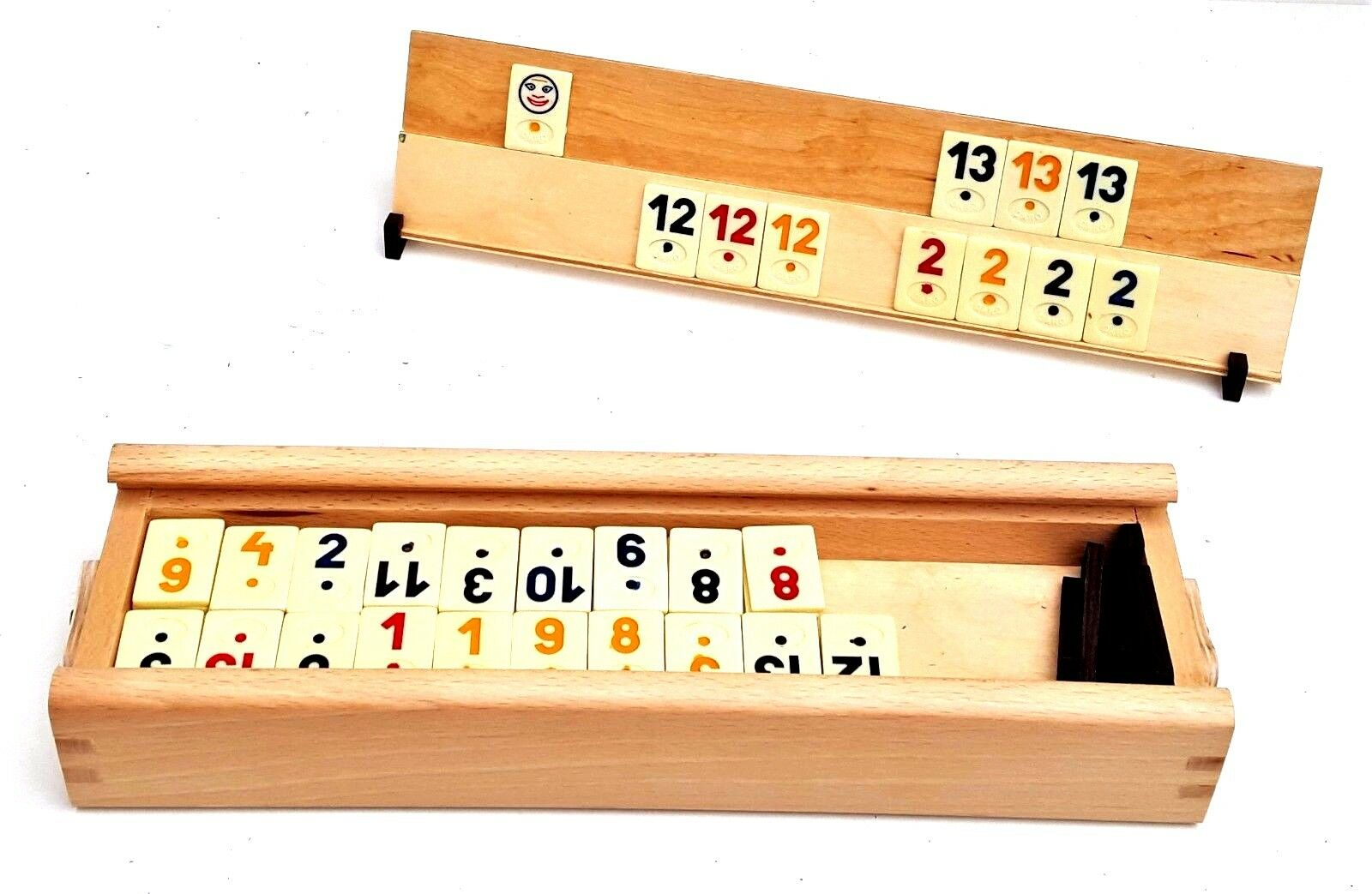 Rummikub in wooden box, Fun Family Tile game