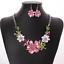 Fashion-Elegant-Women-Bib-Crystal-Pendant-Statement-Chain-Chunky-Choker-Necklace miniature 7