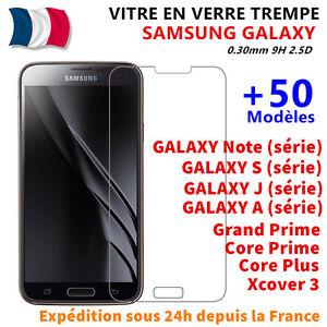 Vitre-Film-Protection-Verre-Trempe-Samsung-S5-S6-A3-A5-A6-A7-J3-J5-J4-Plus-J6