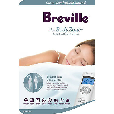 NEW Breville BodyZone Antibacterial Fitted Heated Blanket
