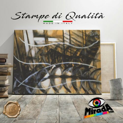 QUADRO Giacomo Balla movimento dinamismo futurismo STAMPA TELA CANVAS astratto