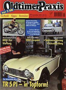 Oldtimer-Praxis-1999-11-99-BMW-Dixi-EMW-R-35-Suzuki-GT-750-Escort-1300-Sport-TR5