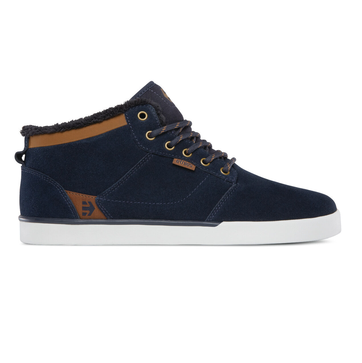 Etnies jefferson mid zapatos caballero zapatillas Navy 4101000398-480 forro