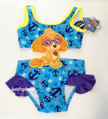 Paw Patrol Skye Swimsuit Girls 3T 4T New