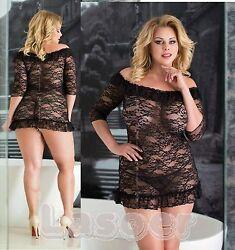 FOR CURVY GIRLS – Plus Size – Sexy Negligee Dessous Babydoll  XL-5XL 46-64