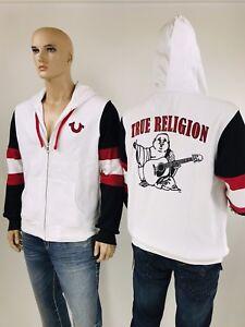 d3dd1afa8  169 True Religion Men Hoodie Zip White Red Black Active Wear Jacket ...