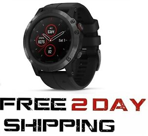 Garmin Fenix 5X Plus Sapphire GPS Watch 51 mm (Black Band) 010-01989-00