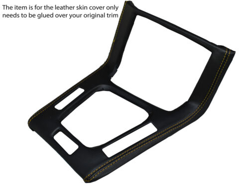 YELLOW STITCH GEAR SURROUND LEATHER SKIN COVER FITS BMW 3 SERIES  E36 1991-1998