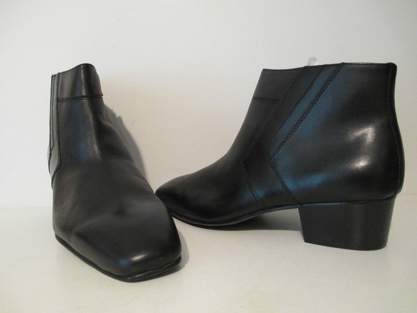 Giorgio Brutini Mens BlackJack Leather Slip On Ankle Demi Zip Boot Black Size 6