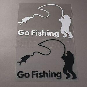 Go Fishing Funny Car Truck Window Mirror Vinyl Reflective