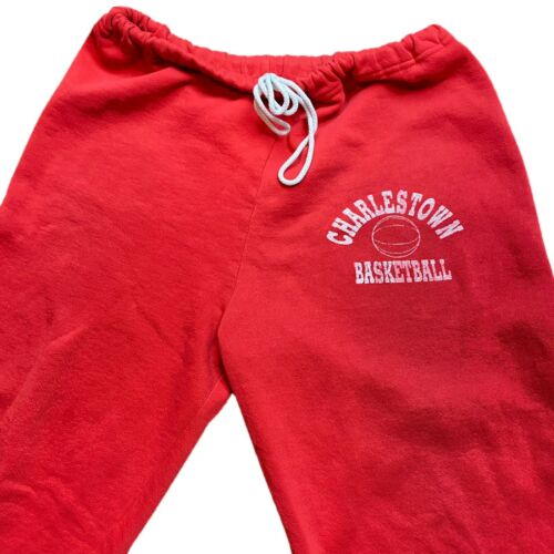 Vintage 90s RUSSELL ATHLETIC Red Sweatpants Charle