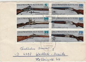 German-DDR-1978-ilfeld-Cancels-Assorted-Guns-Multiple-Stamps-Cover-Ref-30153