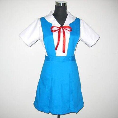 Neon Genesis Evangelion AYANAMI REI Cosplay Costume School uniforms