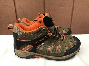c60897b9257a Image is loading Merrell-Chameleon-Mid-Lace-Hiking-Shoe-Waterproof-Olive-