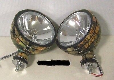 4 130W CAMO OFF ROAD JEEP CJ FORD VW DUNE BUGGY BRONCO FOG LIGHTS DRIVING LAMPS